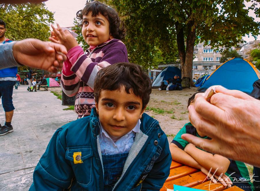 criança síria refugiado na Sérvia