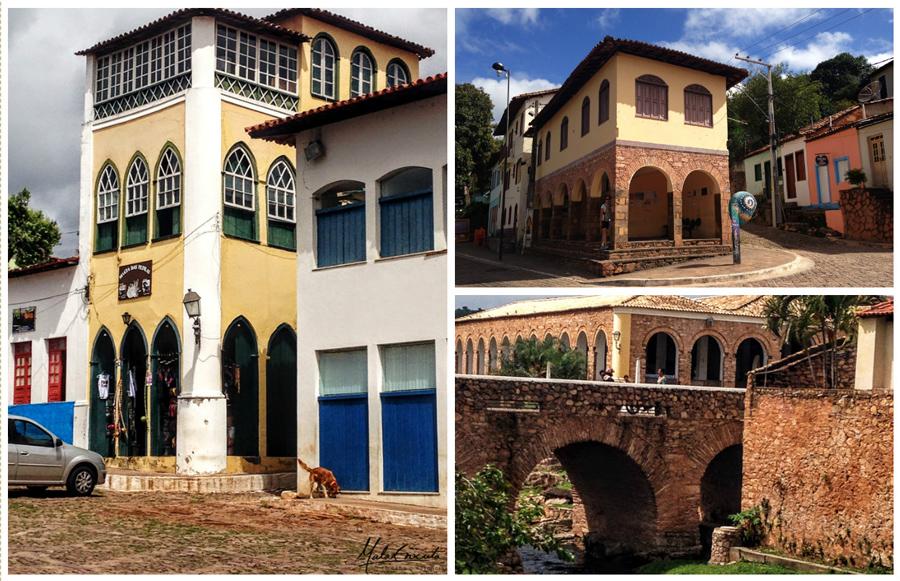 Ex Vice-Consulado da França, rodoviária e |Ponte dos Arcos com Mercado Municipal ao fundo.