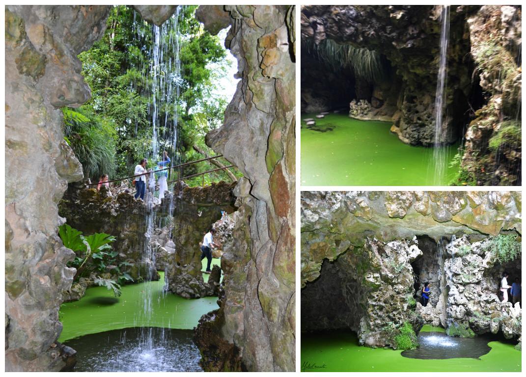 Lago da cascata na quinta da regaleira
