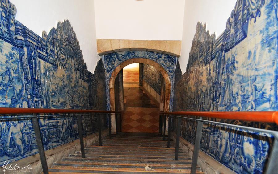 Detalhe de uma das escadarias do Museu Nacional do Azulejo, Lisboa