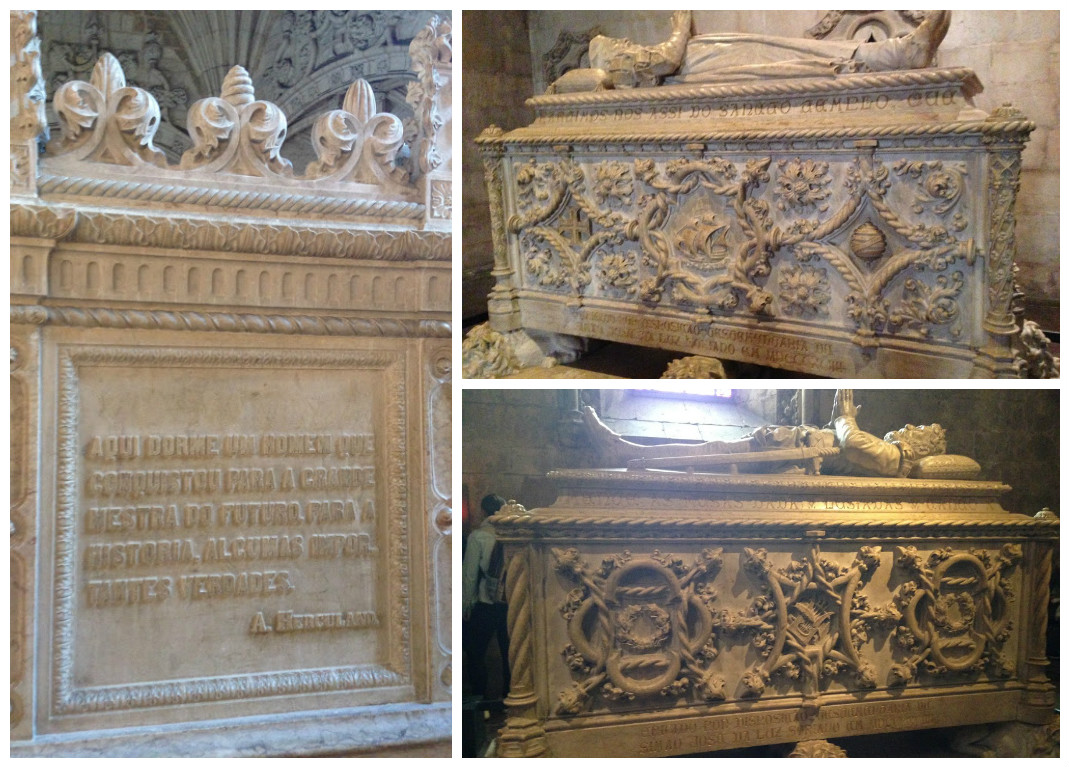túmulos no mosteiro dos jerônimos