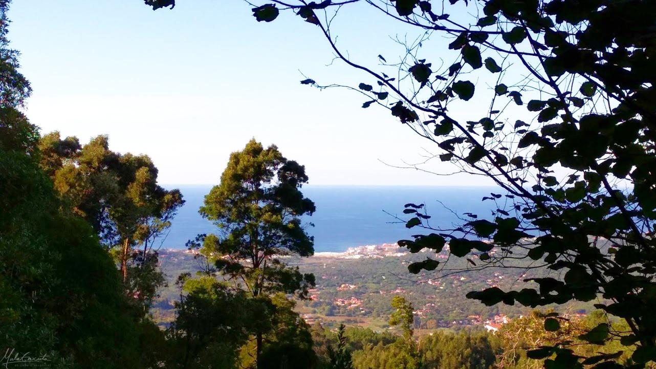 Vista da costa a partir do covento