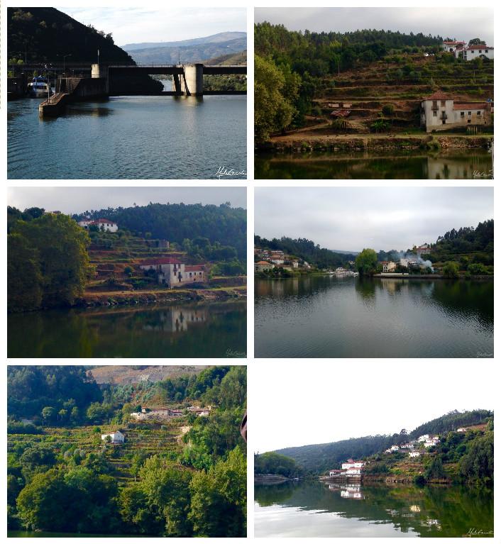 Paisagens durante o passeio de barco pelo Rio Douro
